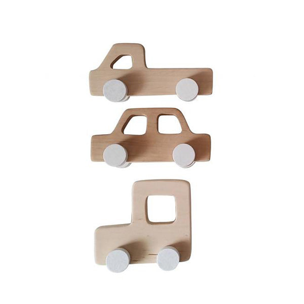 Wooden Retro Cars (set of 3), Dapper Mr Bear | Pinch Toys | www.dappermrbear.com