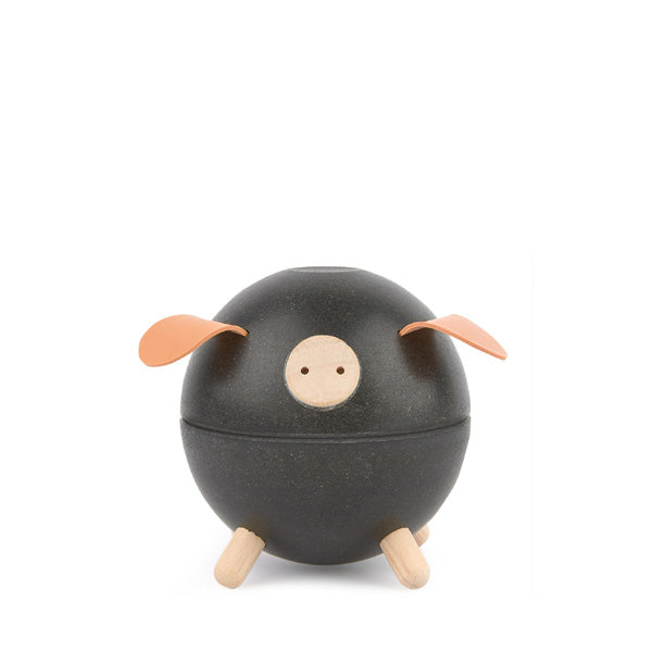 Piggy Bank - Black, Plan Toys, Dapper Mr Bear