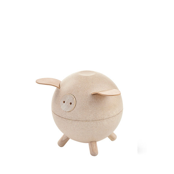 Piggy Bank - Natural, Plan Toys, Dapper Mr Bear