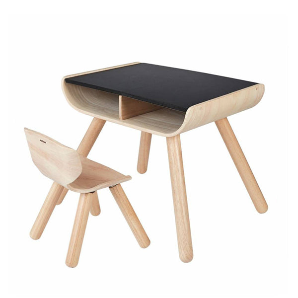 Table and Chair Set - Black, Plan Toys | Dapper Mr Bear