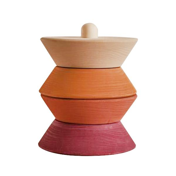 Raduga Grez - Wooden Small Sculpture Stacking Tower