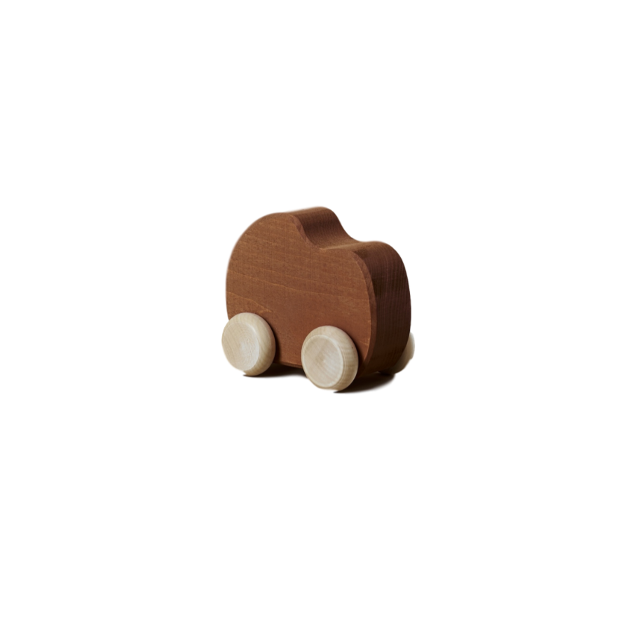 Wooden Shape Toy Car - Clay