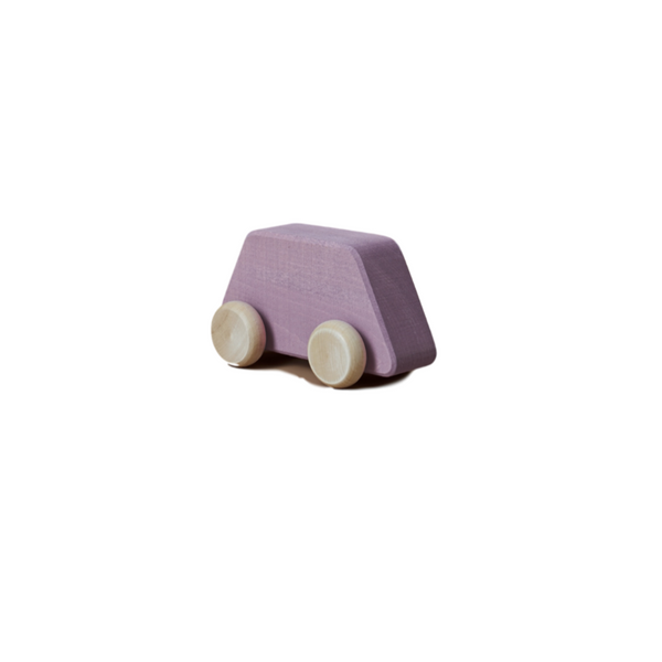 Raduga Grez - Wooden Shape Toy Car - Lilac - Dapper Mr Bear - www.dappermrbear.com - NZ