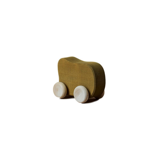 Wooden Shape Toy Car - Olive