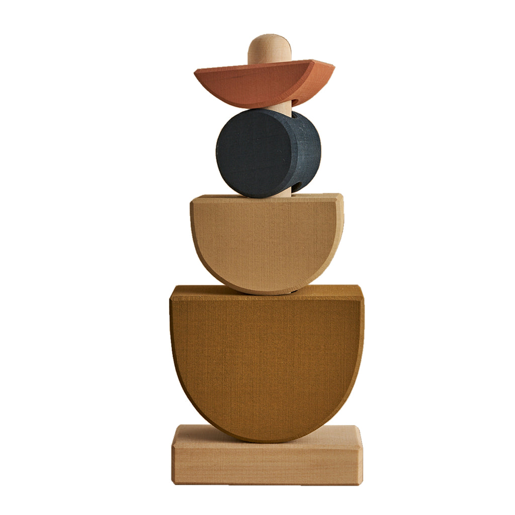 Raduga Grez - Wooden Shapes Stacking Tower - Dapper Mr Bear - www.dappermrbear.com - NZ