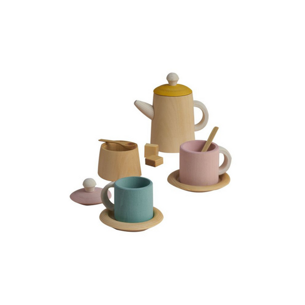 Raduga Grez - Wooden Tea Set - Pastel - www.dappermrbear.com - NZ