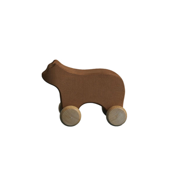 Wooden Push Along Bear