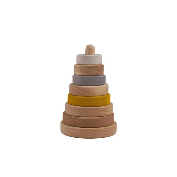 Raduga Grez - Wooden Stacking Tower - Sand - Dapper Mr Bear - www.dappermrbear.com - NZ