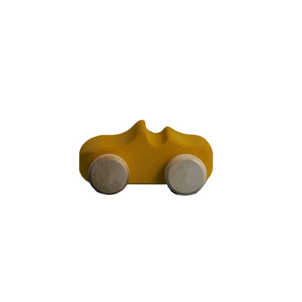 Wooden Toy Car - Mustard