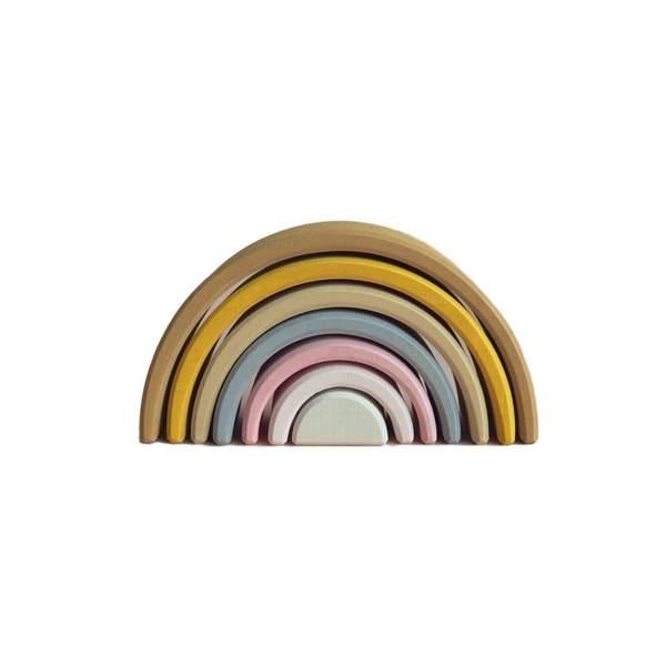 Stacking Wooden Pastel Rainbow