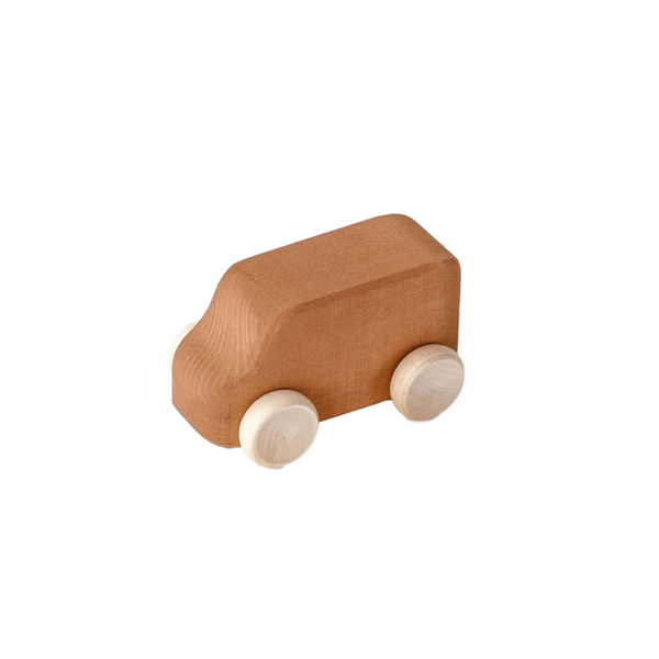 Wooden Toy Van - Brown