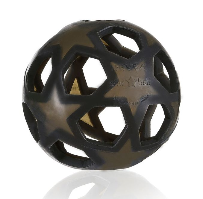 Charcoal Rubber Star Ball - Hevea - Dapper Mr Bear