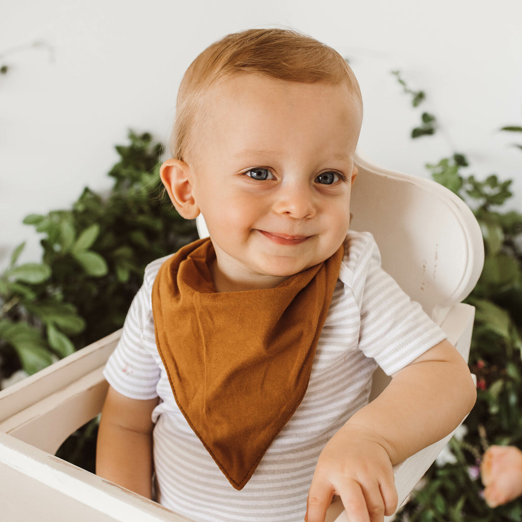 Snuggle Hunny Kids - Bronze Bandana Dribble Bib - Dapper Mr Bear - www.dappermrbear.com - NZ