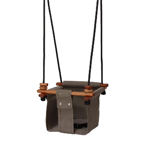 Baby + Toddler Swing - Classic Taupe, Solvej Swings - Dapper Mr Bear - www.dappermrbear.com