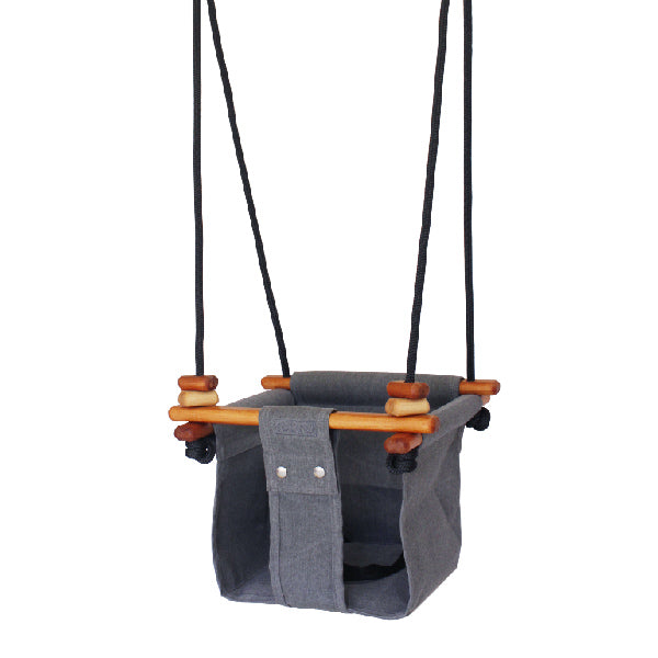Baby + Toddler Swing - Smoke Grey - Dapper Mr Bear - www.dappermrbear.com