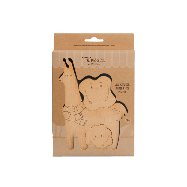The Kiss Co - Āpiti - Wooden Puzzle - Dapper Mr Bear - www.dappermrbear.com - NZ