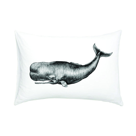 Sperm Whale Pillowcase, Brown Paper Lemon | Dapper Mr Bear