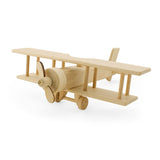 Large Wooden Propeller Plane