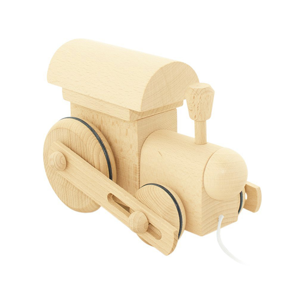 Wooden Pull Along Train - Dapper Mr Bear - Miva Vavoc - www.dappermrbear.com - NZ