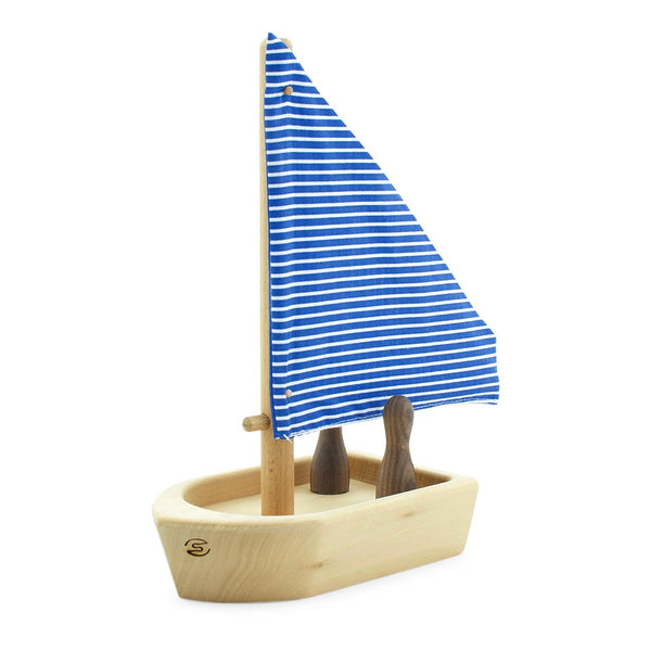 Wooden Toy Boat with Passengers