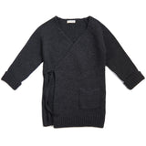 Woolmix knit cardigan - Charcoal