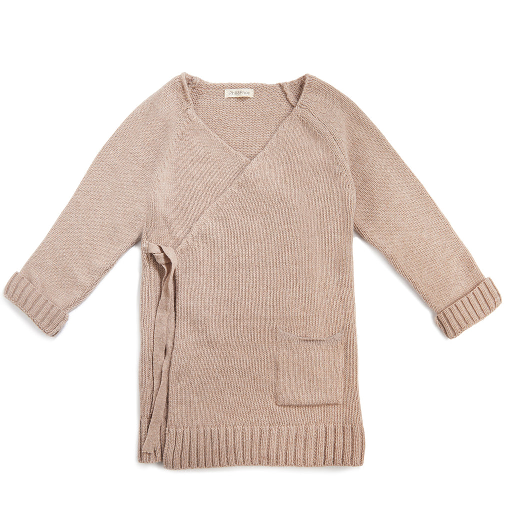 Phil and Phae Woolmix knit cardigan - Oatmeal Melange