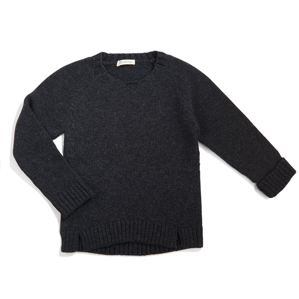 Woolmix knit sweater - Charcoal