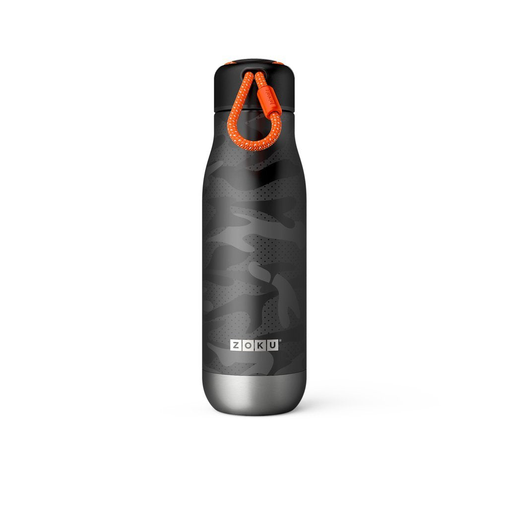 Zoku Stainless Bottle 500ML - Black Camo - Dapper Mr Bear - www.dappermrbear.com - NZ