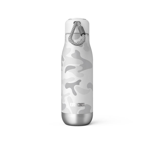 Zoku Stainless Bottle 500ML - White Camo - Dapper Mr Bear - www.dappermrbear.com - NZ