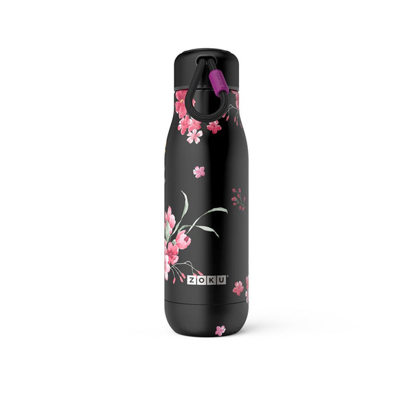 Zoku Stainless Bottle 500ML - Midnight - Dapper Mr bear - www.dappermrbear.com - NZ