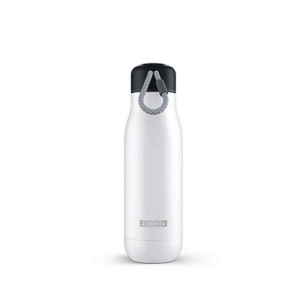 Zoku Stainless Bottle 500ML - White - Dapper Mr Bear - www.dappermrbear.com - NZ