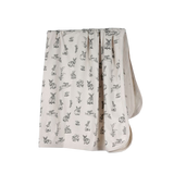 Burrowers Almond Swaddle with Grey Print