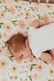 Cot Sheet - Blush Bloom - crib - Clementine Kids - Dapper Mr Bear - www.dappermbear.com - NZ