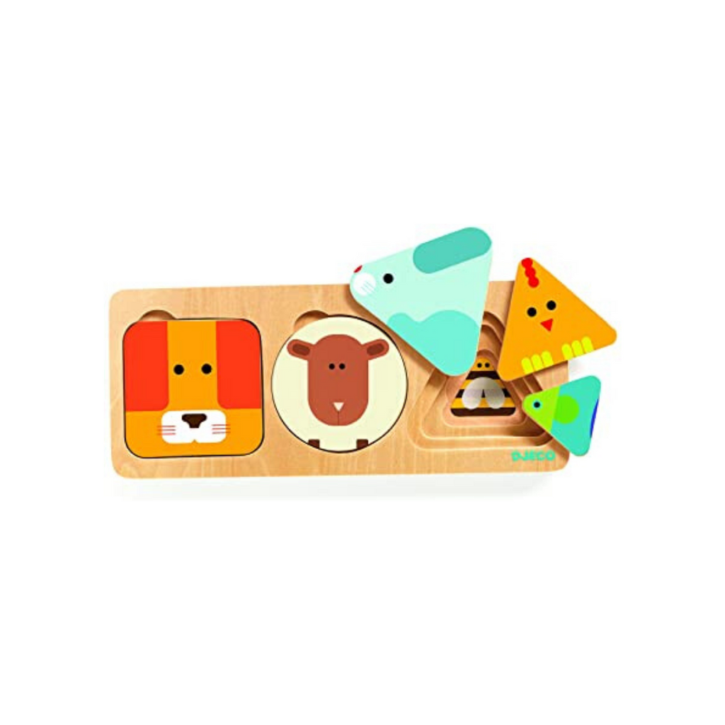 Djeco Basic 3-Layer Puzzle - Dapper Mr Bear - www.dappermrbear.com - NZ
