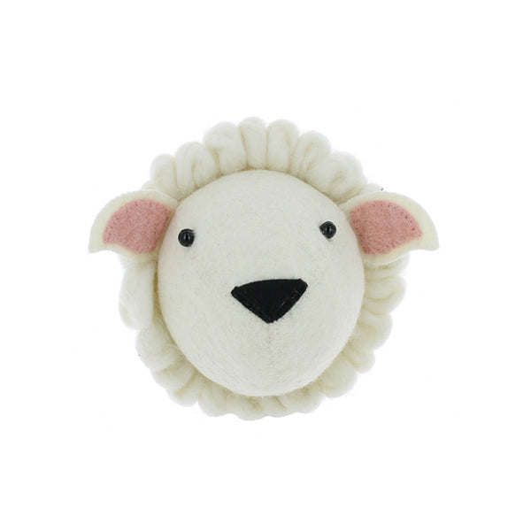 Felt Animal Head - Sheep - Dapper Mr Bear - www.dappermrbear.com - NZ