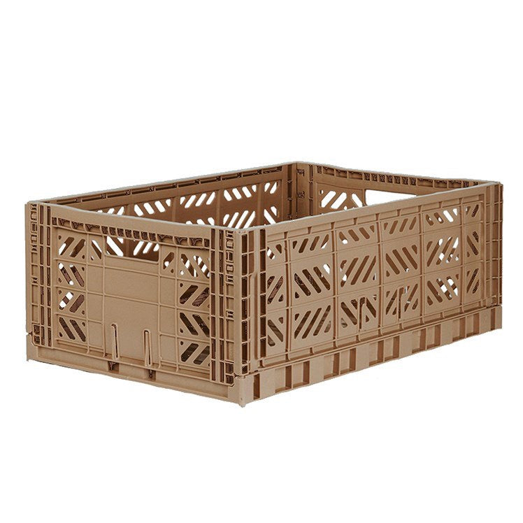 Foldable Crate - Warm Taupe Maxi