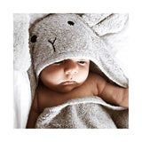Liewood Albert Hooded Towel - Rabbit Blue Wave - Dapper Mr bear - www.dappermrbear.com - NZ