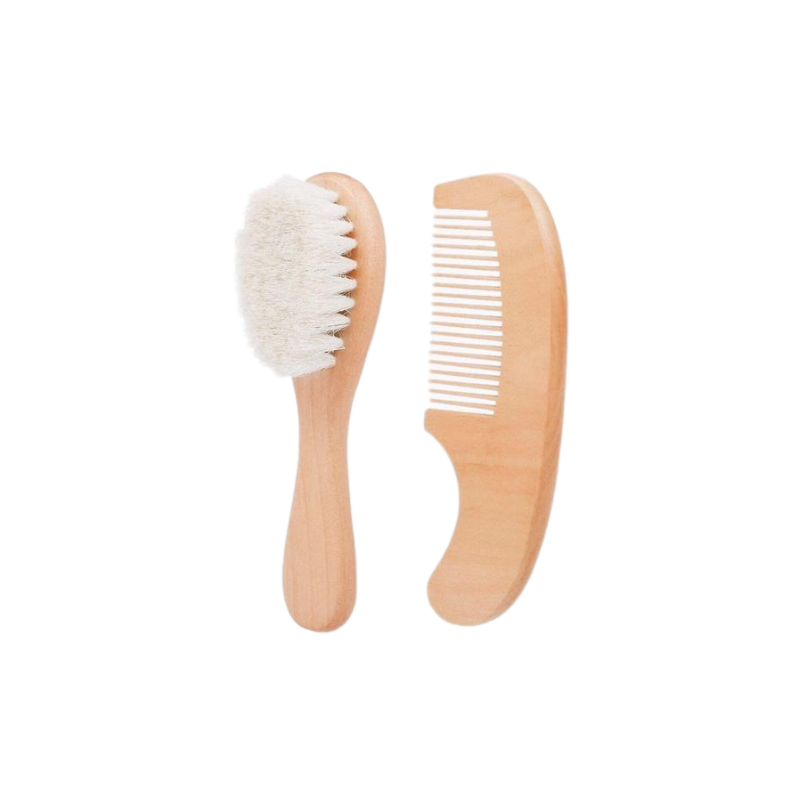 Lion + Lamb Baby Brush and Comb Set