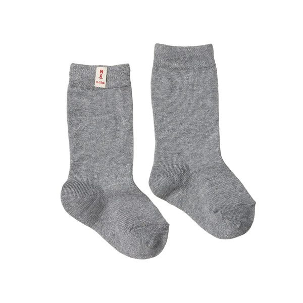Nature Baby Organic Cotton Socks - Grey Marle