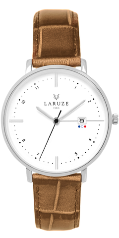 Montre Laruze Croco whisky - 40 mm