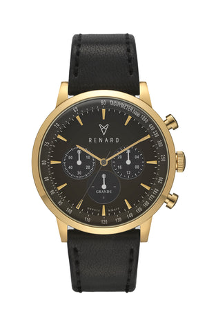 Grande Chrono Black Gold Veau Black