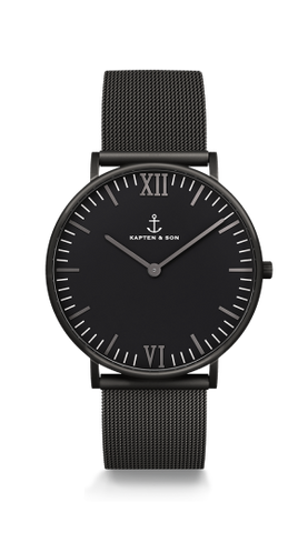 Montre Black Midnight mesh