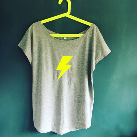 Ladies scoop neck Bolt t shirt