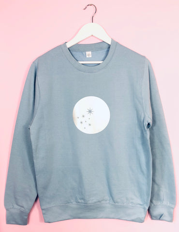 NEW Summer Pastel BABY BLUE sweatshirt