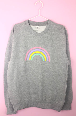 MULTI PASTEL RAINBOW sweatshirt