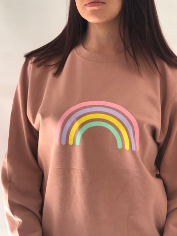BRIGHTS  Multi Pastel Rainbow print Sweatshirt