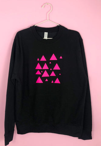 UNISEX Neon Marl SCATTERED TRIANGLES sweatshirt