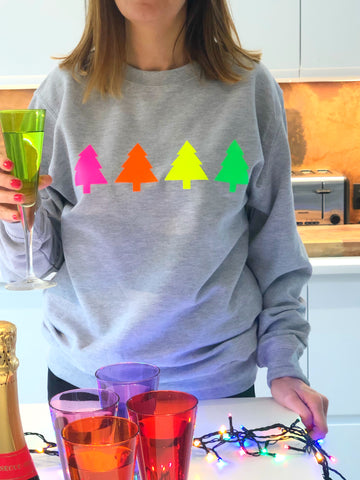 Christmas NEON TREES sweatshirt