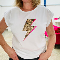 LEOPARD BOLT FLASH t shirt