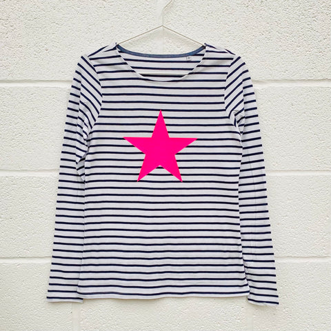 STAR Breton Stripe long sleeve t shirt